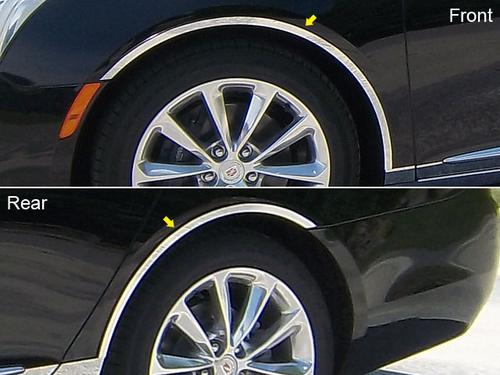 2013 Cadillac XTS 4pc Wheel Well Trim w/ Adhesive