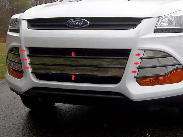 2013 Ford Escape 8 Piece Grill Accent Trim