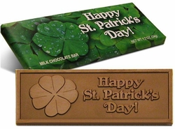 St. Patrick's Day Belgian Milk Chocolate Bars (Case of 50)