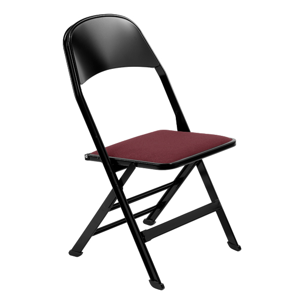 2000 Series Fabric Upholstered Seat and Steel Back Panel Folding Chair with 1
