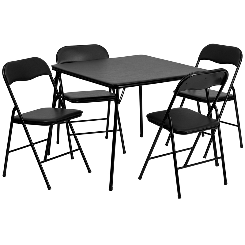 chair set jb 1 gg 5 piece black folding card table and chair set jb 1