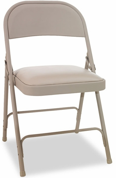 Alera Steel Folding Chair Tan 4 Carton