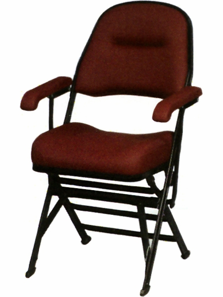 Club Series Upholstered Seat And Back Folding Chair With