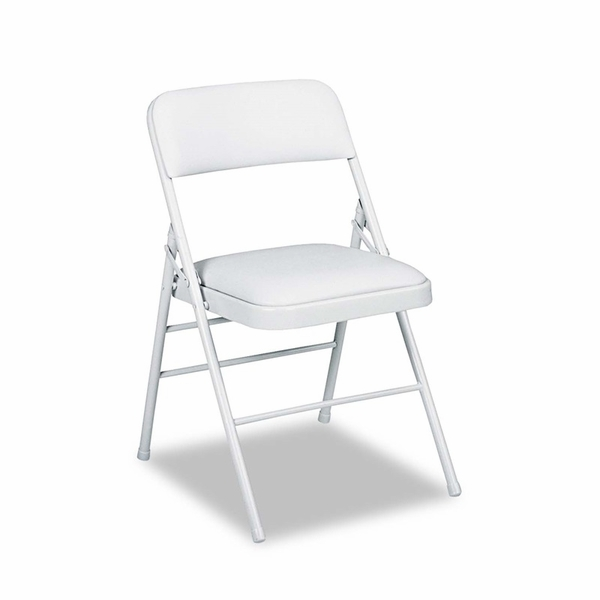 Cosco Deluxe Vinyl Padded Seat & Back Folding Chairs Taupe 4 Carton