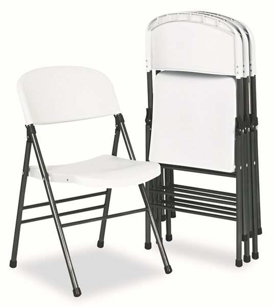 Cosco Deluxe Fabric Padded Seat & Back Folding Chairs Cavallaro Black Se