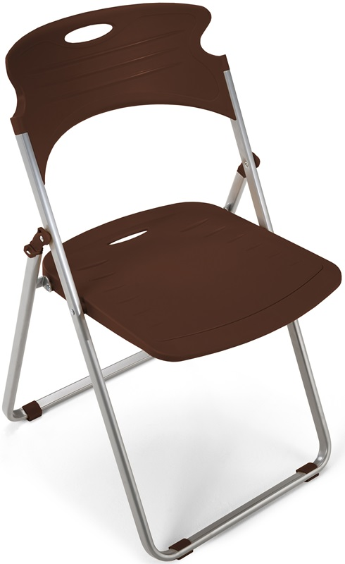 Flexure Folding Chair with Polypropylene Seat and Back Chocolate