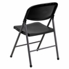 HERCULES Series 330 lb. Capacity Black Plastic Folding Chair with Charcoal Frame [DAD-YCD-50-GG]