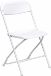 HERCULES Series 800 lb. Capacity Premium White Plastic Folding Chair [LE-L-3-WHITE-GG]