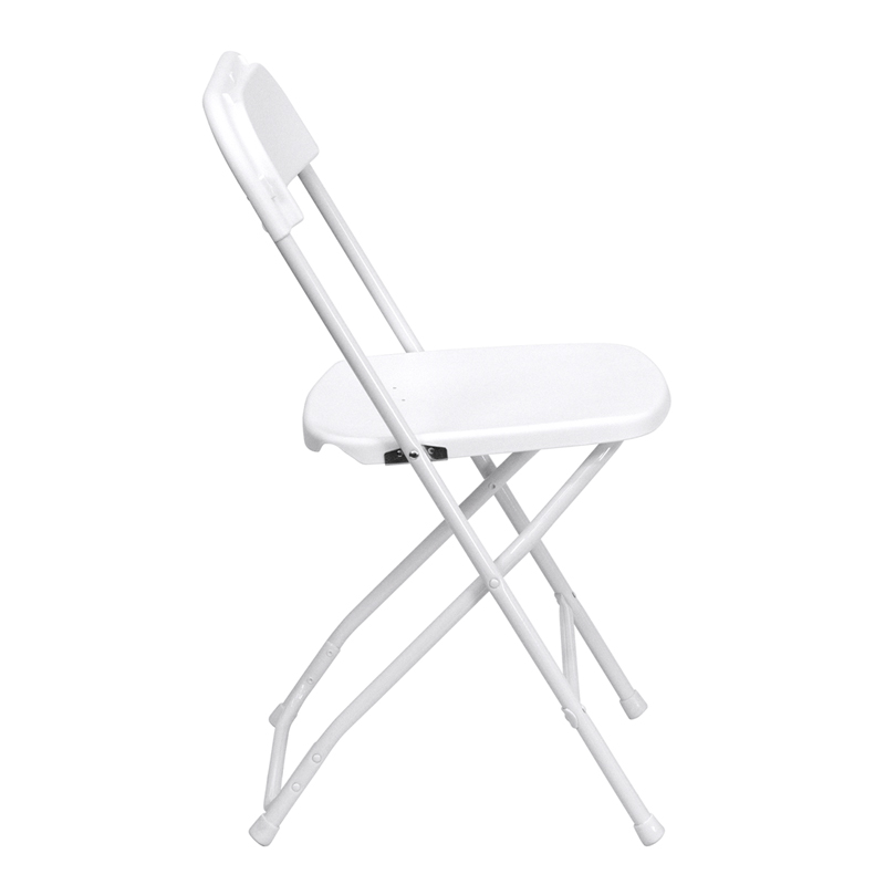 HERCULES Series 800 lb Capacity Premium White Plastic Folding Chair