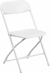 HERCULES Series 800 lb. Capacity White Plastic Folding Chair [Y-L-9-WH-GG]