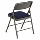 HERCULES Series Curved Triple Braced & Double Hinged Navy Fabric Metal Folding Chair [HA-MC309AF-NVY-GG]