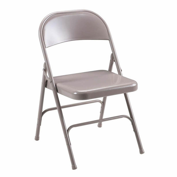 Lorell 500 Lb Capacity Beige Steel Folding Chair With