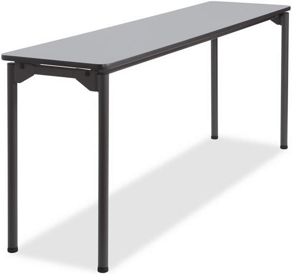Maxx Legroom Wood 18 X 60 Folding Table Gray