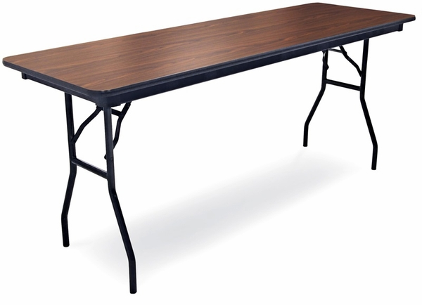 96 D Rectangular Laminate Seminar Table With Locking H