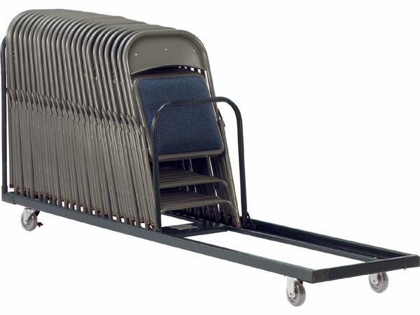 Two Tier Folding Chair Storage Rack