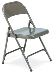 Quick Ship Multi Purpose Steel Folding Chair With Char Black Finish
