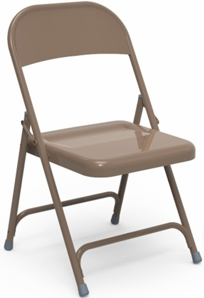 Quick Ship Multi Purpose Steel Folding Chair with Mocha Finish 17 75 &