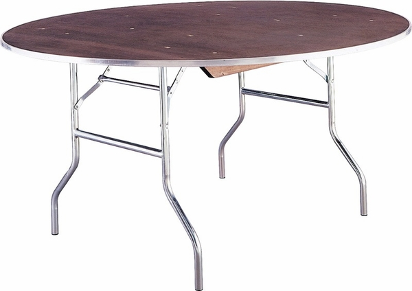 Standard Series Oval Banquet Table With Plywood Top 96