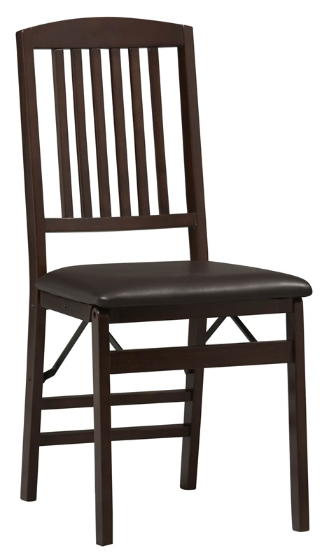 Triena Mission Back Folding Chair Set of 2