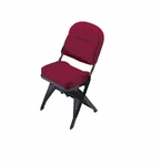 VIP Series Upholstered Seat and Back Folding Chair with Leg Covers [5300IBR-CS]
