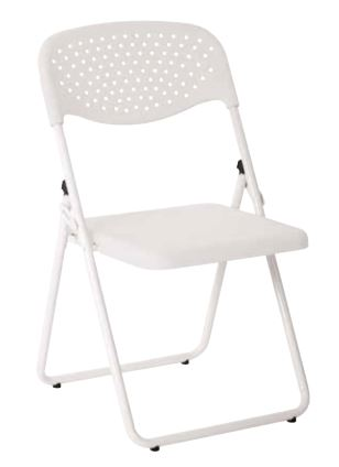 Work Smart Folding Chair With Ventilated Plastic Seat And Back Set Of 4 W