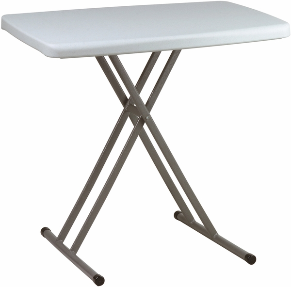 Work Smart 36 Square Resin Folding Table With Powder
