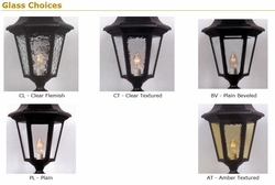 Victorian Medium Post Lantern Set Lighting Fixture