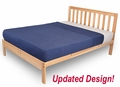 Charleston-2 Platform Bed Frame - Solid hardwood