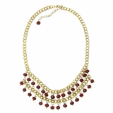 Anjali Opaque Necklace - Burgundy