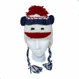 Childrens Sock Monkey Hat
