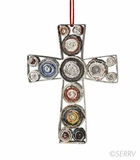 Colorwrap Cross Ornament