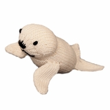 Hand Knitted Stuffed Baby Seal