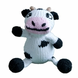 Hand Knitted Stuffed Cow