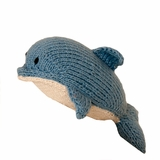 Hand Knitted Stuffed Dolphin