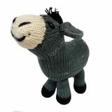 Hand Knitted Stuffed Donkey