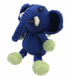 Hand Knitted Stuffed Elephant