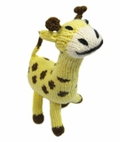 Hand Knitted Stuffed Giraffe
