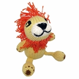 Hand Knitted Stuffed Lion