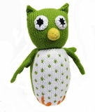 Hand Knitted Stuffed Owl