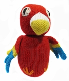 Hand Knitted Stuffed Parrot