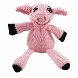Hand Knitted Stuffed Piggy