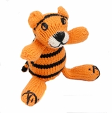 Hand Knitted Stuffed Tiger