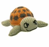 Hand Knitted Stuffed Turtle
