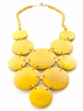 Stones Throw Necklace - Yellow