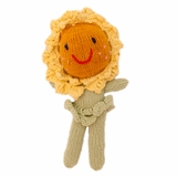 Hand Knitted Stuffed Sunflower Girl