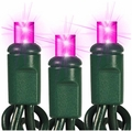 """50 LED Wide Angle String Lights - 6"""" Spacing - 25 Foot - Pink"""