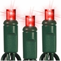 """50 LED Wide Angle String Lights - 6"""" Spacing - 25 Foot - Red"""