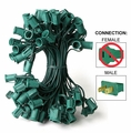 """C9 Stringer - 12"""" Spacing  - 100' Length - Green Wire"""
