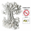 """C9 Stringer - 12"""" Spacing  - 100' Length - White Wire"""