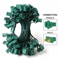 """C9 Stringer - 12"""" Spacing - 25' Length - Green Wire"""